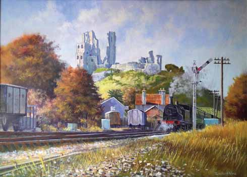 Edward Vine's shot manages to capture two iconic Dorset images in one by including the Swanage Steam Railway in the picture