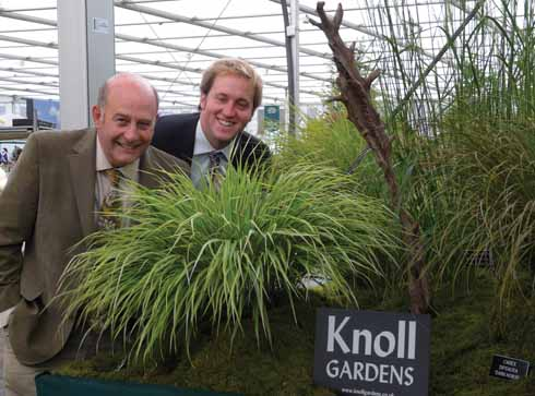 Neil with Ross Humphrey and a new plant, Hakonechloa Samurai