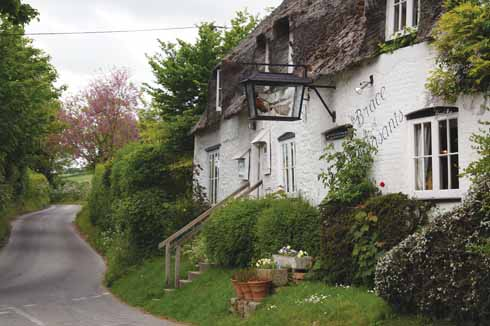 The village's famous pub: the Brace of Pheasants