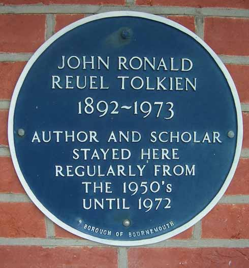 The Tolkien plaque
