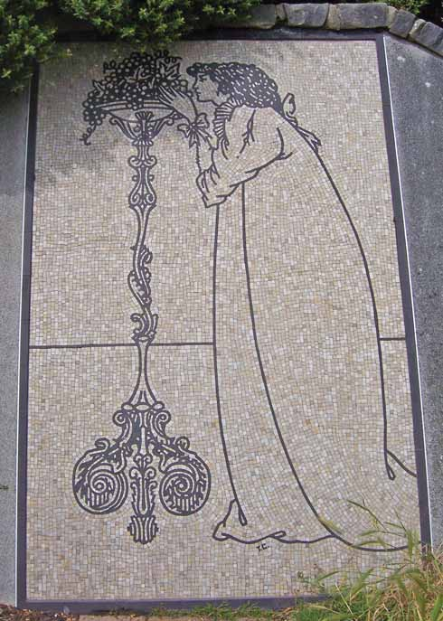 The mosaic memorial to Aubrey Beardsley