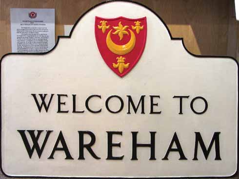 Wareham's welcome sign that stood at the north entrance to town until the late 1970s
