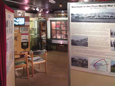 Wareham Museum, on the left John Hale's new DVD welcoming visitors to Wareham plays on a loop