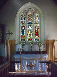 Inside Chaldon Herring's church of St Nicholas
