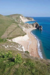 Looking east one has views of Durdle Door