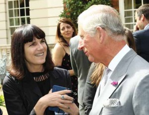 Catherine Meyer (left) will be talking about her unauthorised biography of HRH Prince Charles
