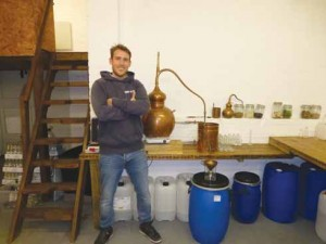 Rupert Holloway, one of the new generation of distillers