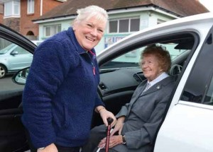 Dorset Blind Association volunteer drivers Gill Brown and Iris Harmer, 'absolutely the lifeblood of the organisation,' says Jonathan