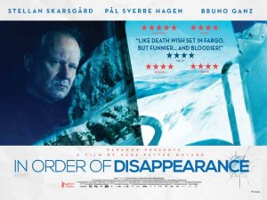The poster for In Order of Disappearance, the 2014 Norwegian comedy noir film which SHIFF managed to show before the DVD came out