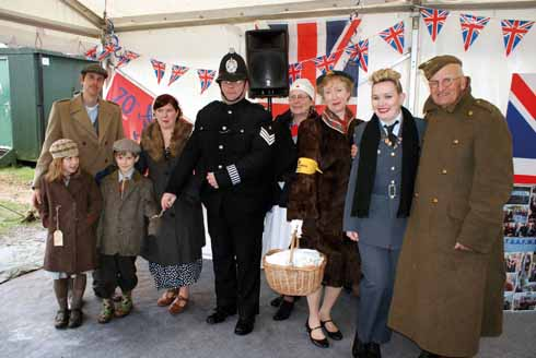 Vintage transport day: enthusiastic re-enactors get into the spirit
