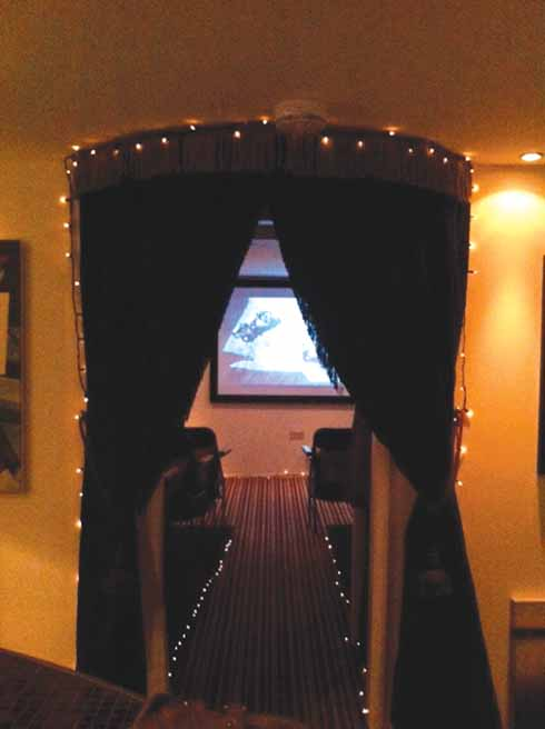 Behind the curtain is not the great and powerful Oz, but the UK's smallest cinema