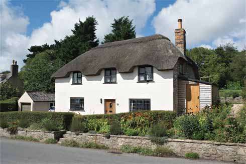 There are also thatched, whitewashed and rendered dwellings in the village