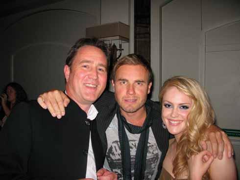 Simon with Gary Barlow and Camilla Kerslake