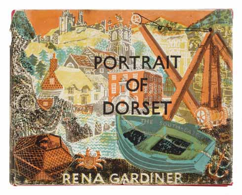 The cover of Portrait of Dorset (1960), only thirty numbered copies and a few additional specimen copies were produced