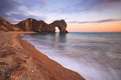1215EdTreasureOfDorsetDurdle Door Sunset