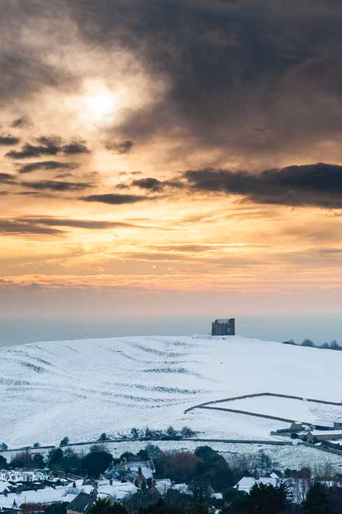 Abbotsbury and St Catherine's Chapel from the big freeze of 2010