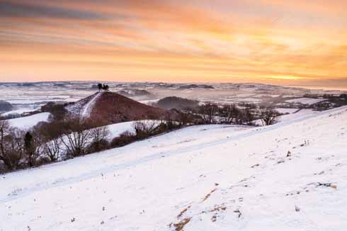 Colmer's Hill on Boxing Day 2012