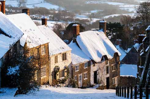 What could be more attractive than Gold Hill in Shaftesbury under a covering of snow, unless you're at the bottom of it wanting to walk up