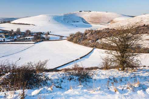 Shaftesbury is said to be an overcoat colder than Gillingham; Melbury Beacon is at least an overcoat colder than Shaftesbury when the wind whips in on a snowy day