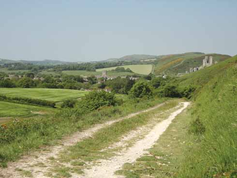 Corfe Castle from Challow Hill