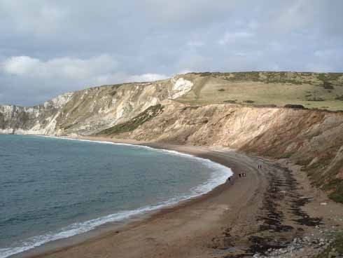 Worbarrow Bay: the western end of the Purbeck Chalk Hills