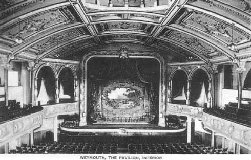 The interior of the original Pavilion, 1920s