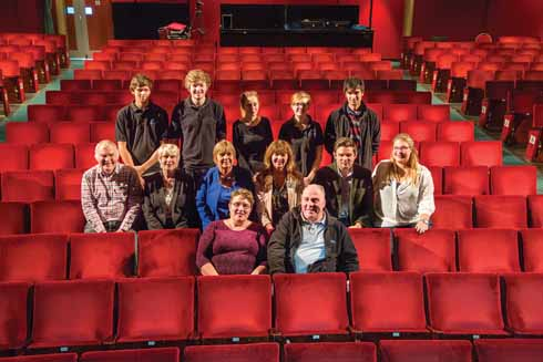 The staff at Weymouth Pavilion, Phil Say and Louise Dominey seated front