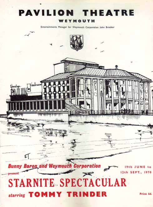 Programme for Weymouth Pavilion's 1970 summer show, Starnite Spectacular starring Tommy Trinder