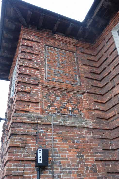 There are some remarkable patterns in the brick both in terms of bond and colour