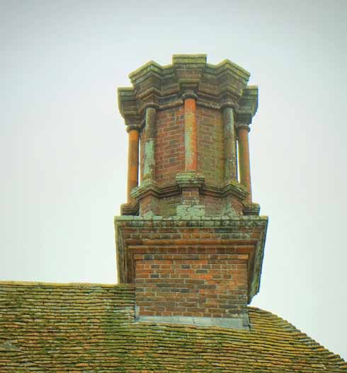 One of the Old House's extraordinary chimneys