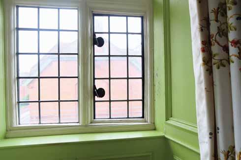 An original window, possibly at its original angle