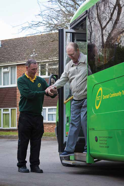 Getting out and about with others is a vital function of community transport. Dorset Community Transport runs a range of services for those without their own transport.