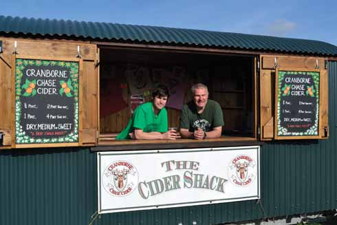 Bill and father Simon in the Cider Shack
