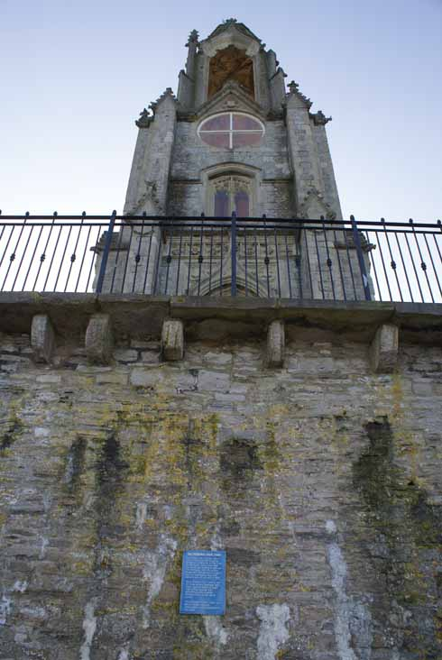 The plaque indicating the tower's original lowly function as shipping ballast is appropriately enough only visible from the seaward side of the building