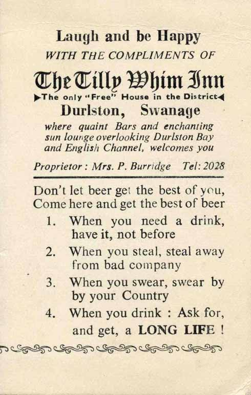 Rules by which to live, courtesy of the Tilly Whim