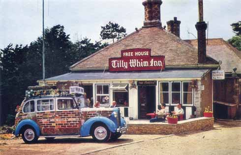 Eschewing the half-timbered approach of the Morris Traveller, the Tilly Whim Inn's had a brickwork livery