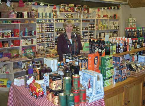 Lulu Richards in the farm shop at Pamphill Dairy