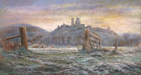 Corfe Castle: one of Clive's personal works
