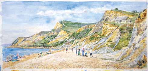 Clive's picture of Eype is from October 2015
