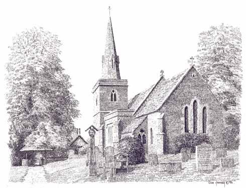 Littlebredy church from December 1994