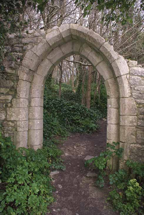 The arch at the entrance to the site of St Andrew's Church