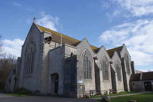 The current parish church of Portland: All Saints in Easton by Crickmay
