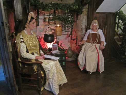 The house guides dress in period costume for special occasions, like the Tudor Children's Weekend with which the 2016 season opens