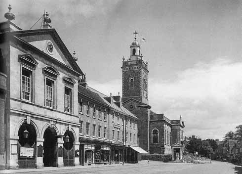 Corn Exchange street view 1948 (image: Blandford Museum)