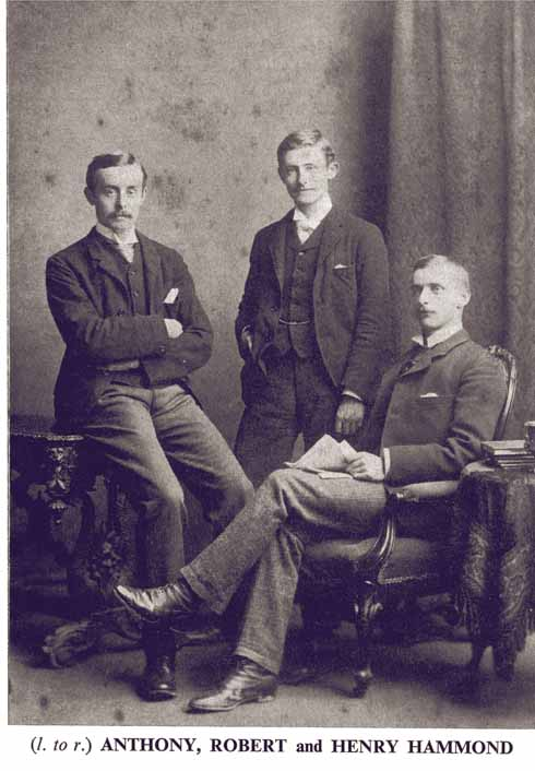 Anthony, Robert and Henry Hammond. Robert and Henry made several trips to Dorset between 1905 and 1907, riding their bicycles between villages as they collected folk songs from local singers