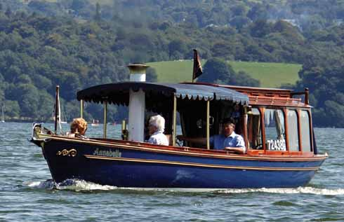 Annabellesteaming across Lake Windermere, August 2015