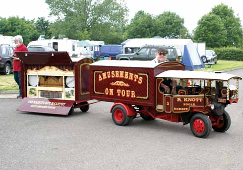 he Foden Showman's wagon towing the magnificent 48 keyless McCarthy steam organ