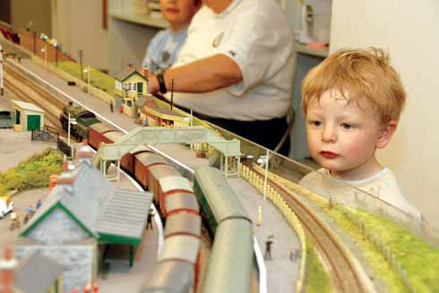 This is what it's all about – a young admirer fascinated by the movement of trains on Averton Hammer