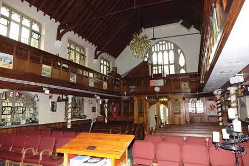 Inside the Bell Street United Reform church, one of the Shaftesbury Fringe's venues