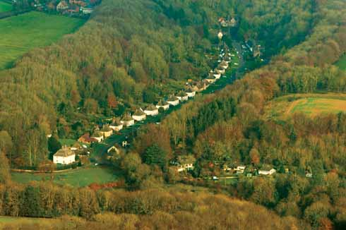 Milton Abbas as seen from above